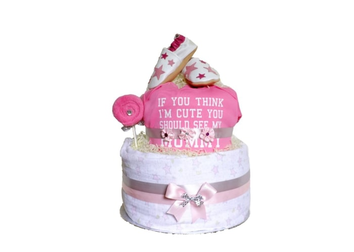 Cute Like Mummy Diaper Cake