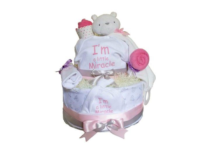 Girl Little Miracle Preemie Diaper Cake