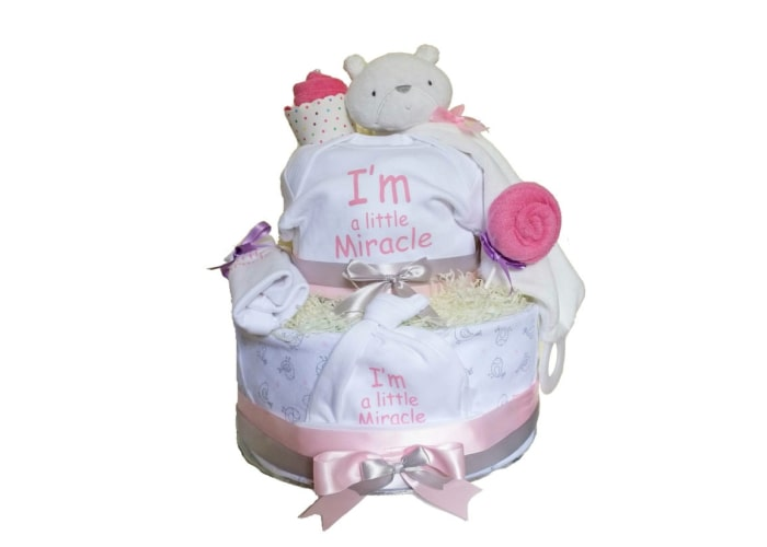 Girl Little Miracle Preemie Diaper Cake
