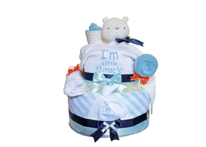 Little Miracke Boy Preemie Diaper Cake