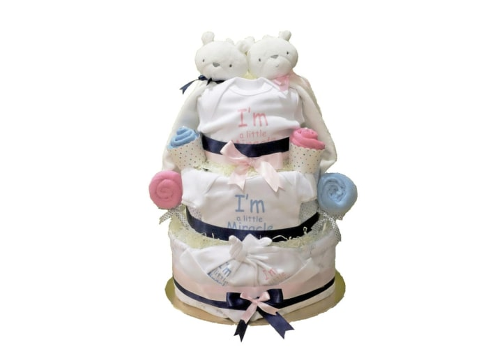 Preemie Little Miracle Twins Diaper Cake