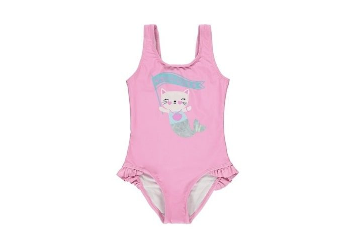 Pink Meowmaid Frilled Swimsuit (12-18m)