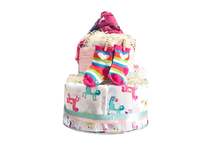 daddy little princess diaper cake back