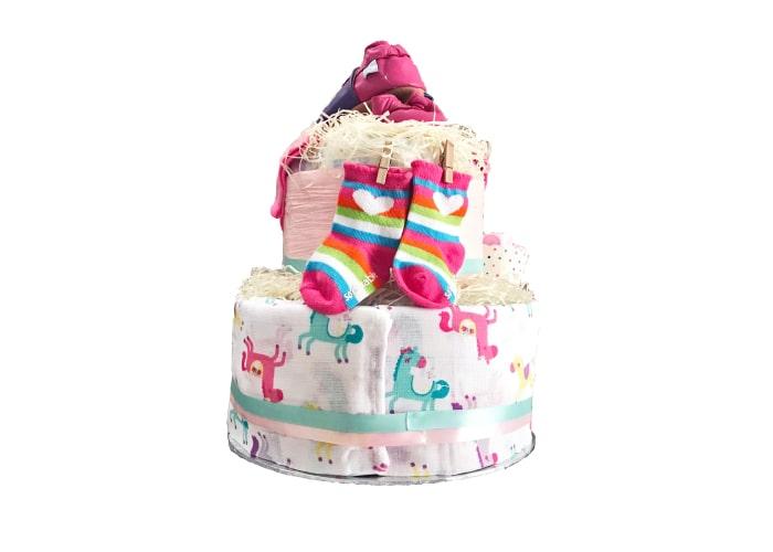 daddy little princess diaper cake back