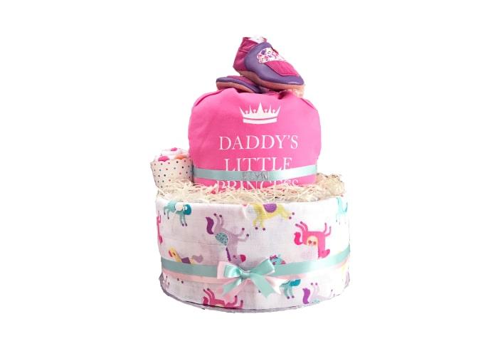 daddy little princess diaper cake