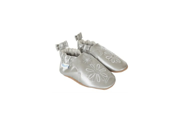 robeez silver flowers prewalker baby shoes