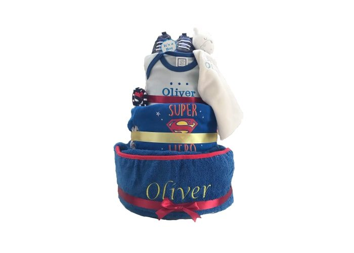 Personalised Superman Premium Diaper Cake