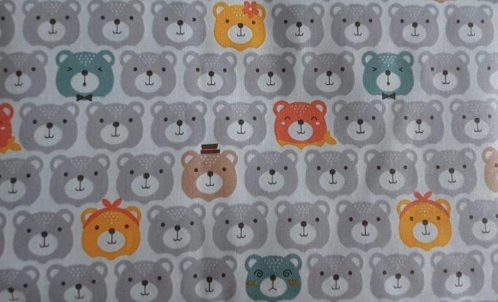 grey bears pillow fabric