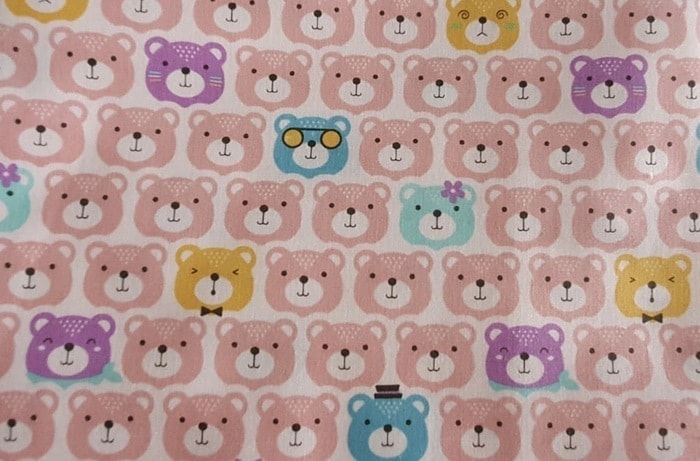 pink bears pillow fabric