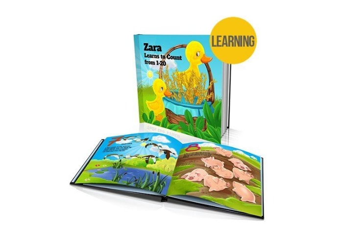 I learn to count personalised kids story book
