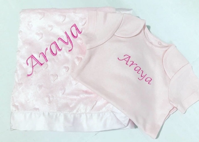Personalised blanket and bodysut