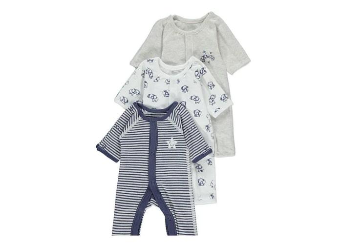 preemie baby boy sleepsuits