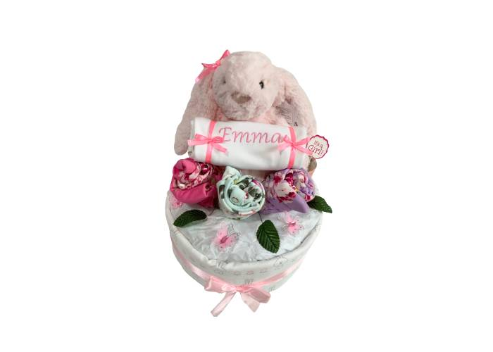 My Jellycat Bunny Personalised Diaper Cake