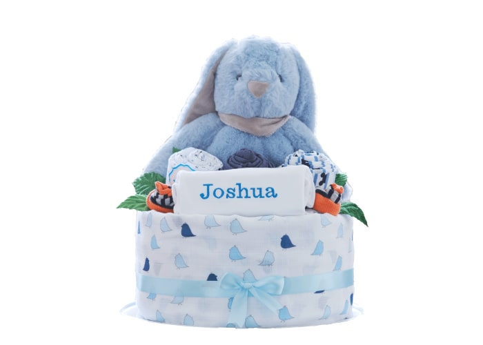 personalised baby boy diaper cake