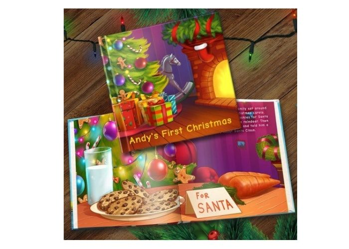 First Christmas personalised storybook