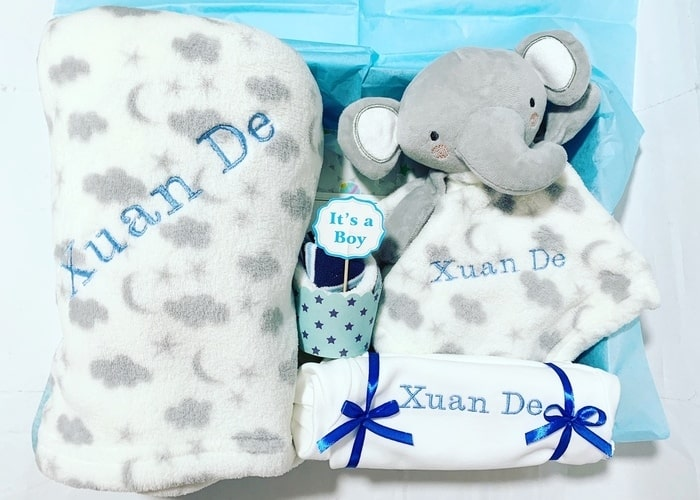 Baby Boy Bundle of Joy Personalised Hamper
