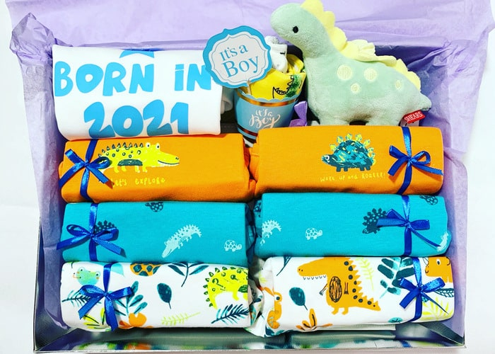 Born in 2021 Little Dino Personalised Hamper