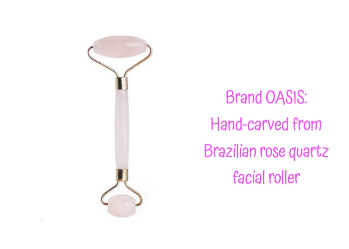 Brazilian rose quarts facial roller