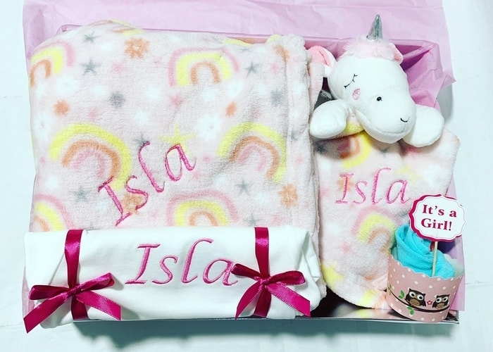 My Unicorn Personalised Baby Girl Hamper
