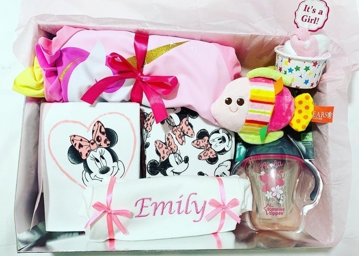Mother and Baby Girl Congratulations Personalised Hamper