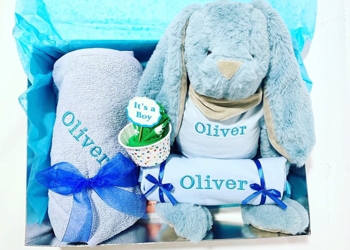 Personalised boy gift hamper
