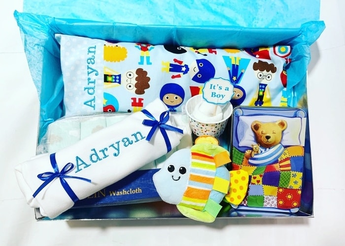 my super baby personalised hamper