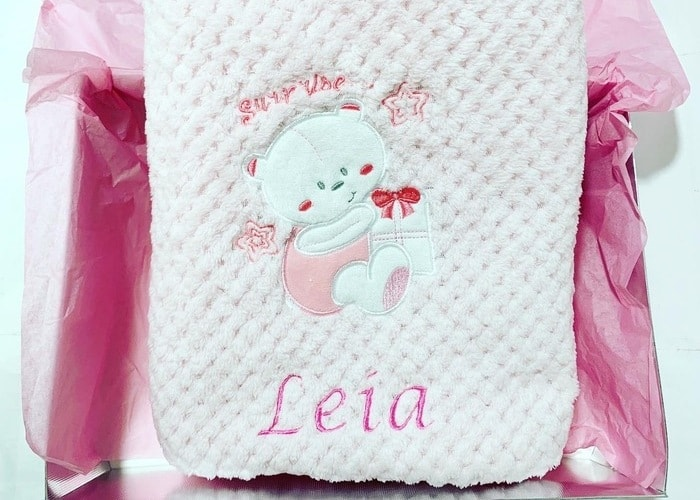 personalised fleece blanket baby girl