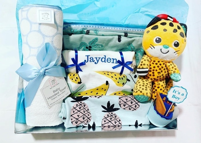 Baby Boy Jungle Personalised Hamper
