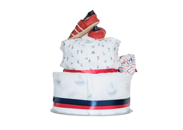 Little Sailor Diaper Cake back