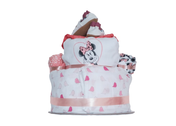 Minnie Mouse diaper cake back