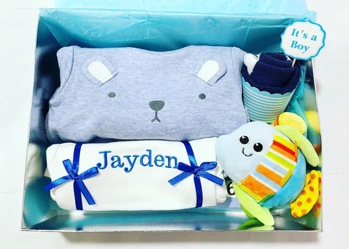 My Cutie Baby Boy Personalised Hamper
