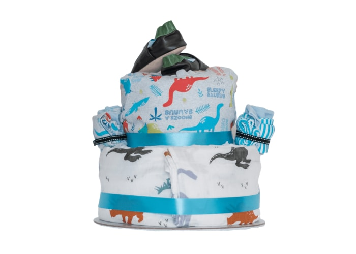 Roar Little Dino Diaper Cake back