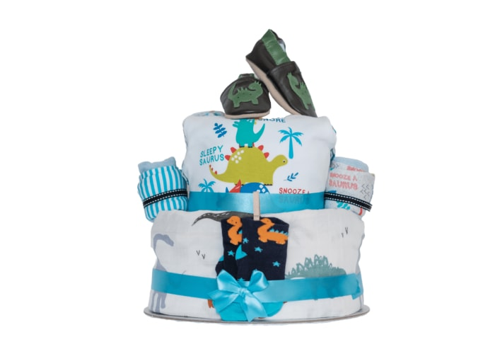 Roar Little Dino Diaper Cake