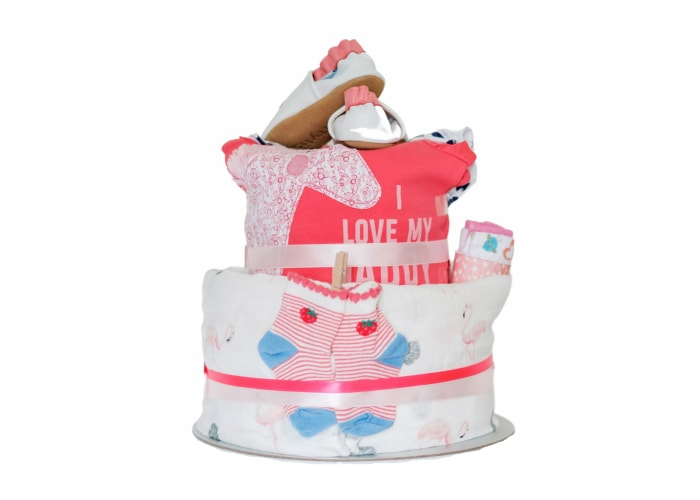 Love Flamingo and Unicorns Diaper Cake
