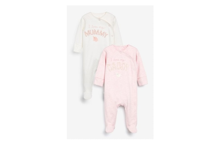 Mummy and Daddy sleepsuits