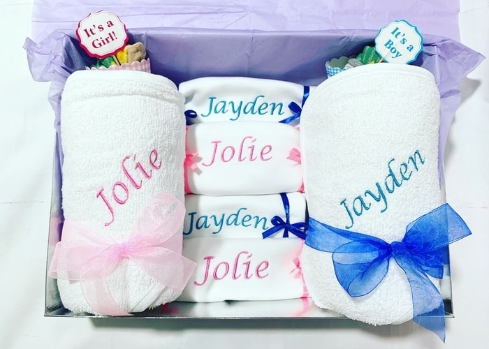 Twin Boy and Girl Personalised Gift Hamper