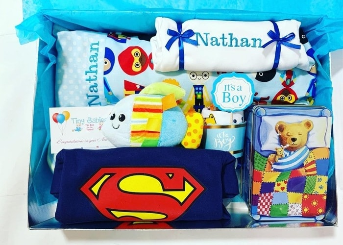 Little Superhero Boy Personalised Gift set