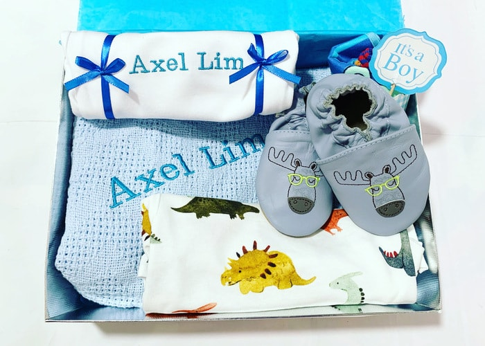 Precious Baby Boy Personalised Hamper