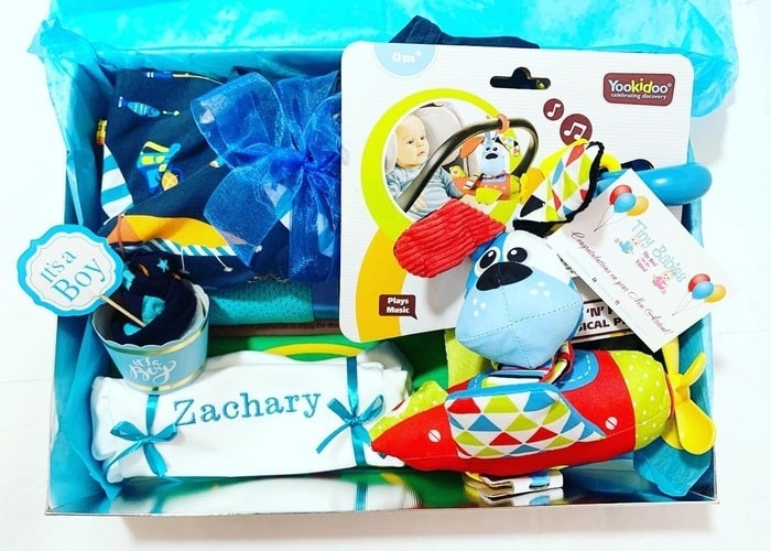 Baby Boy personalised gift hamper