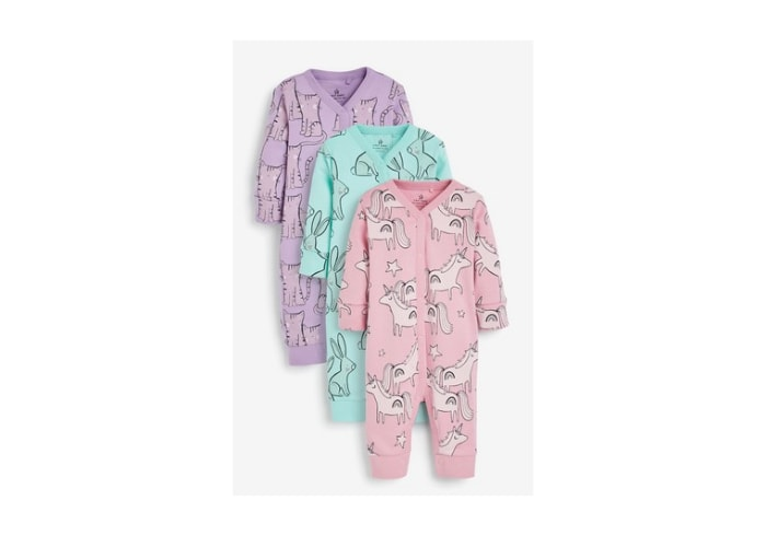 Unicorn Footless Baby Gilr Sleepsuits