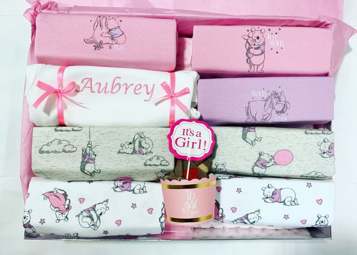 Winnie the Pooh Baby Girl Personalised Gift Hamper