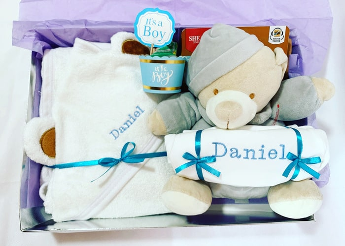 My First Bear boy personalised gift hamper