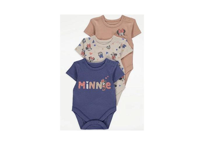 3pc Minnie Mouse Bodysuits