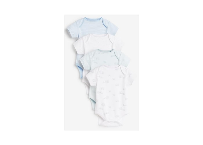4Pack Assorted Baby Boy bodysuits