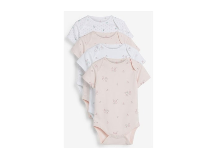 4Pack Assorted Baby Girl bodysuits