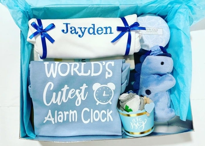 Cutest Alarm Baby Boy Personalised Hamper