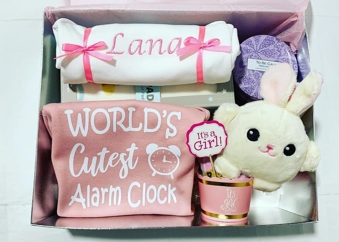 Cutest Alarm Baby Girl Personalised Hamper.