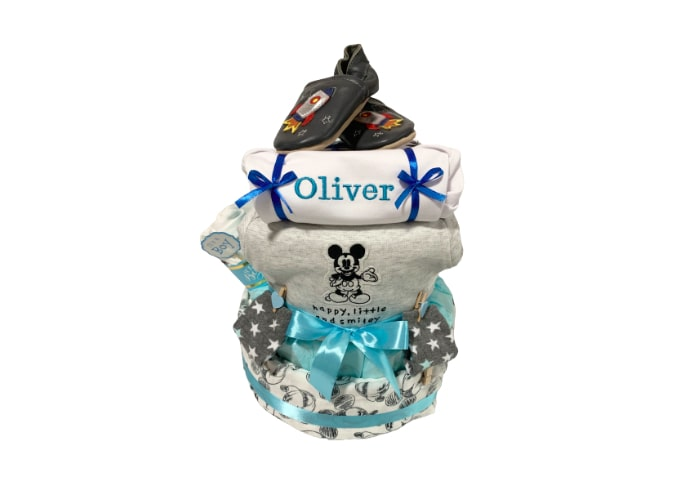 Fun with Mickey Personalised Diaper Cake
