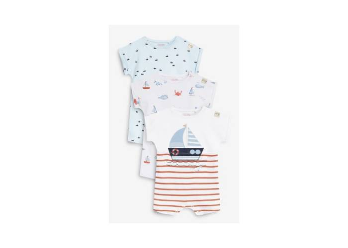 3pack nautical rompers