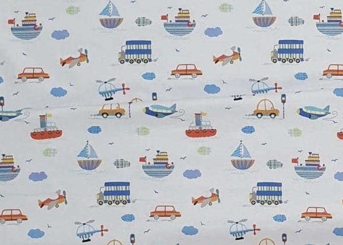 Nautical beansprout husk pillow fabric